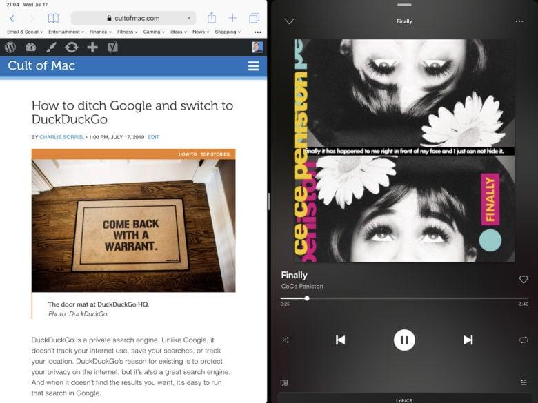 Spotify-iPad-Split-View