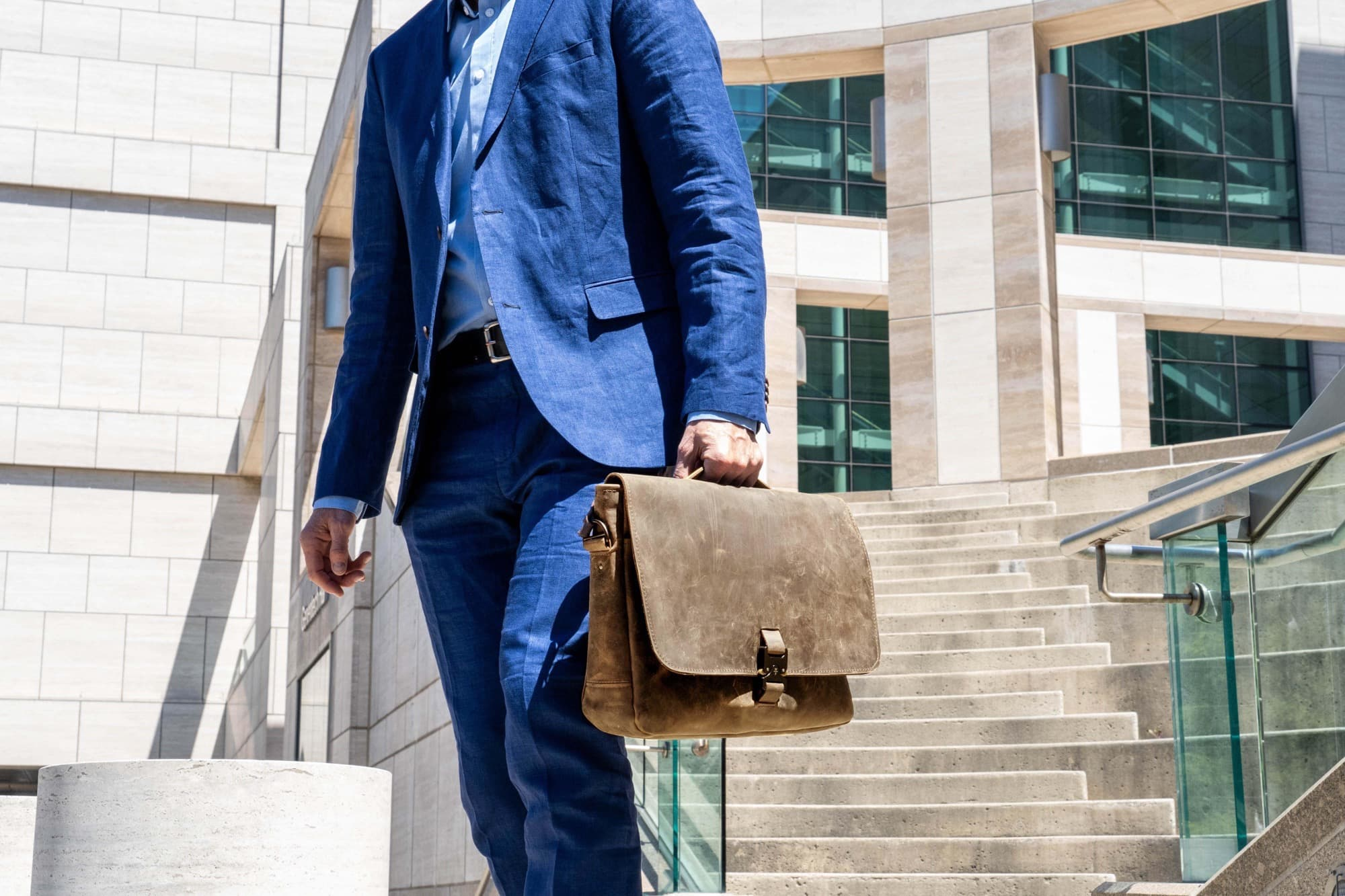 The Executive Leather Messenger should age beautifully.