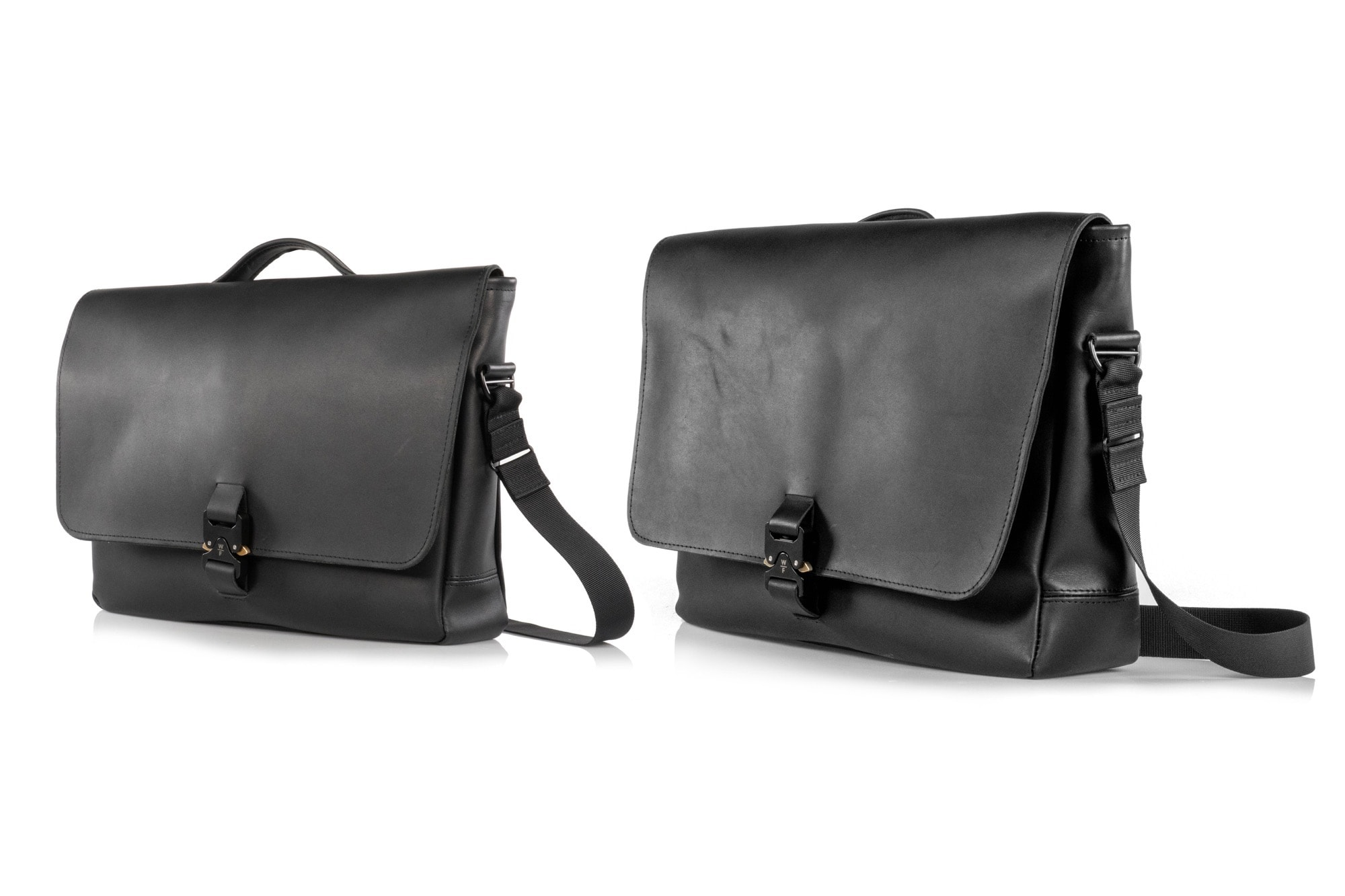 WaterField Designs Executive Leather Messenger comes in two sizes.