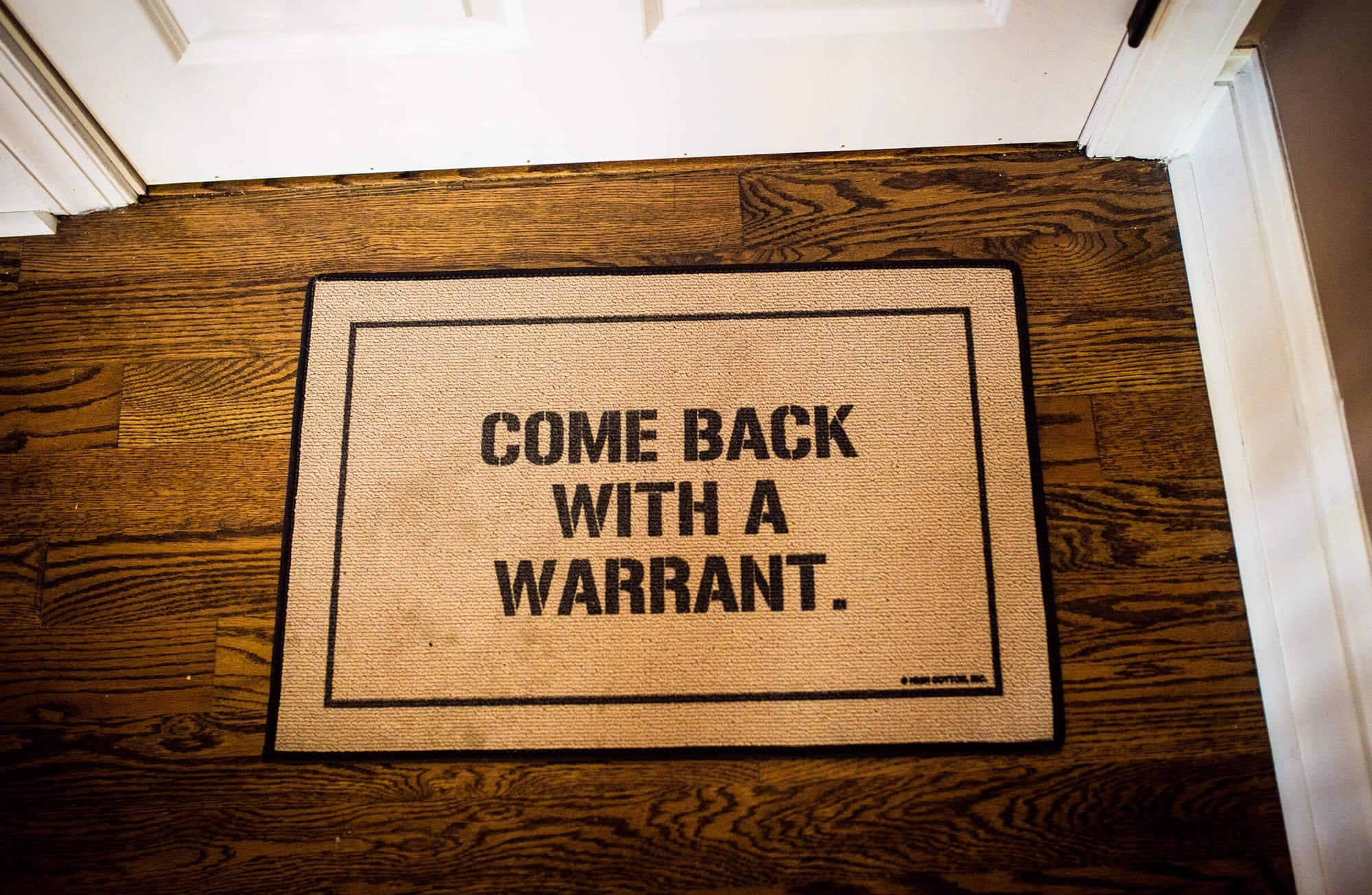 The door mat at DuckDuckGo HQ.