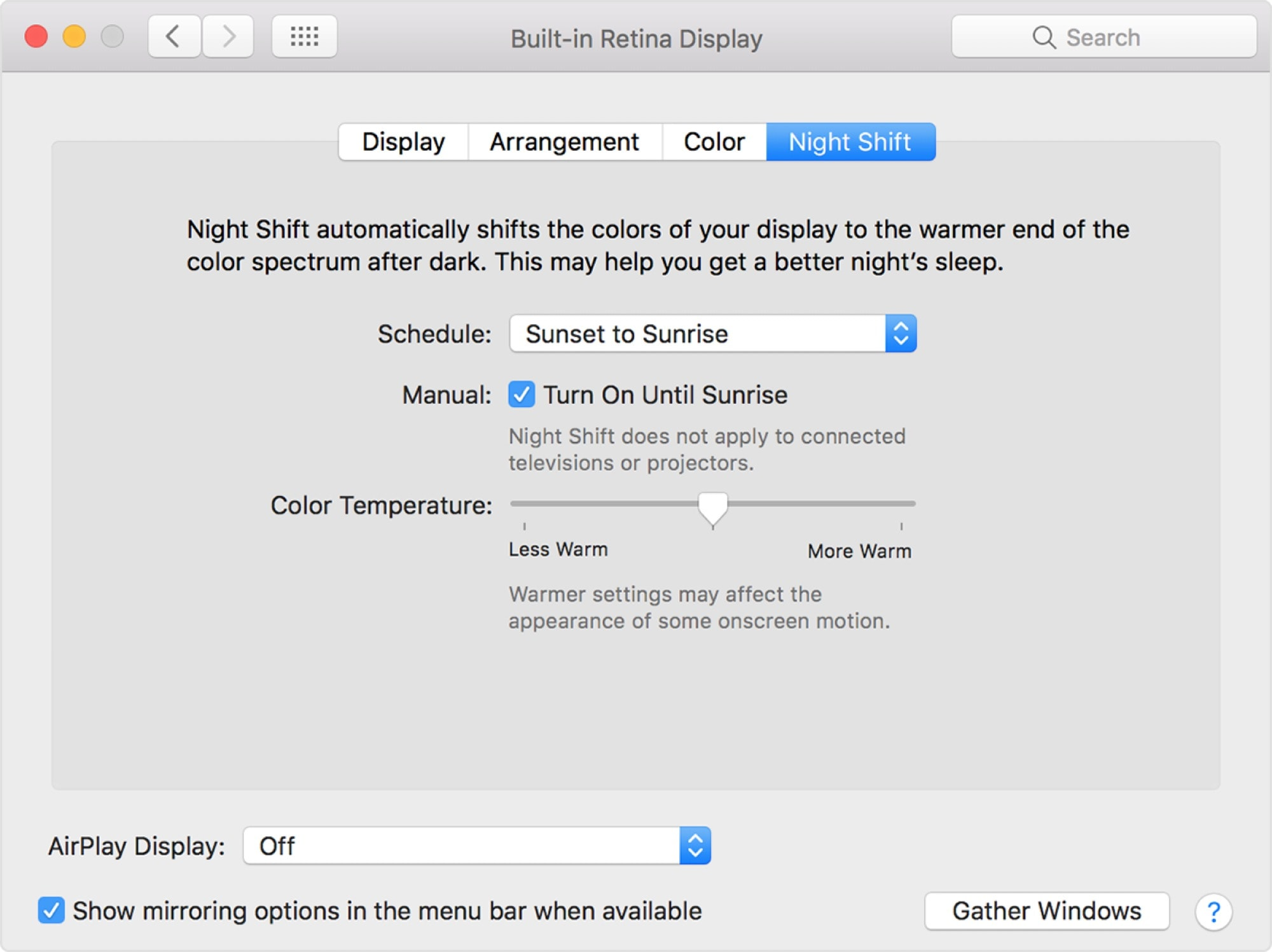 Lionel Ritchie's favorite Mac feature: Night Shift.