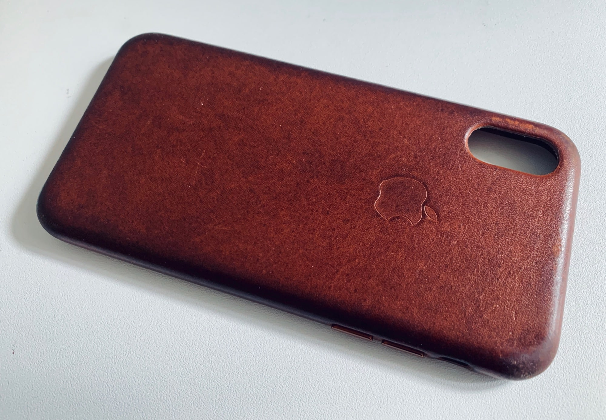 The brown and black leather cases are the only ones that get better with use.