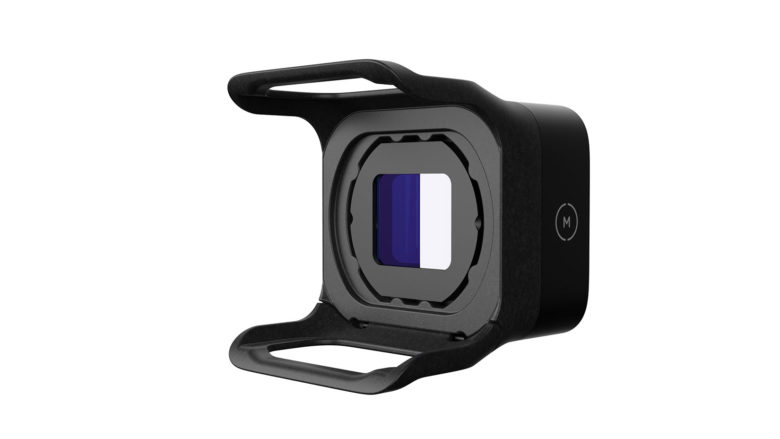 The mount for the Moment Air anamorphic lens for drones