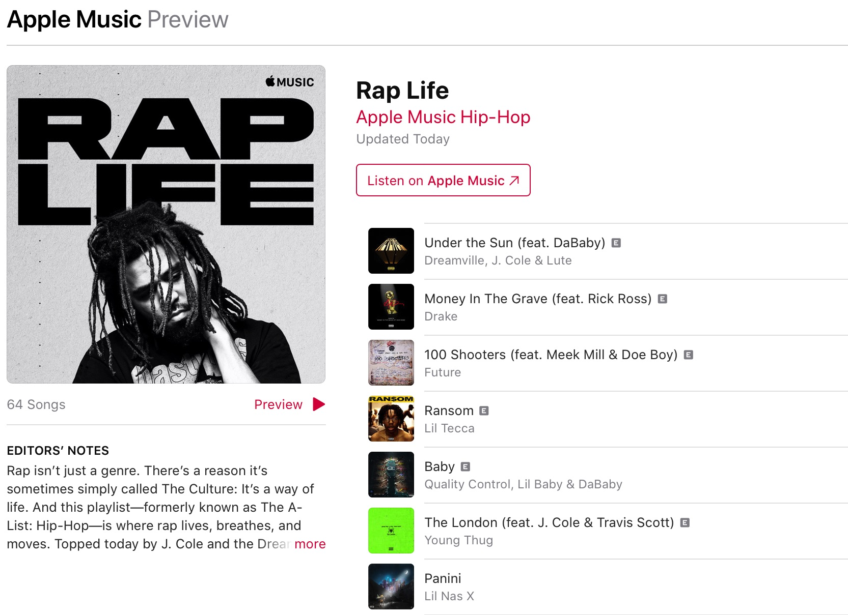 Apple Music's focus on hip-hop continues.