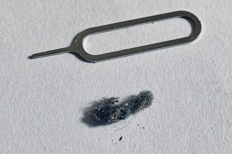 Lint and SIM removal tool