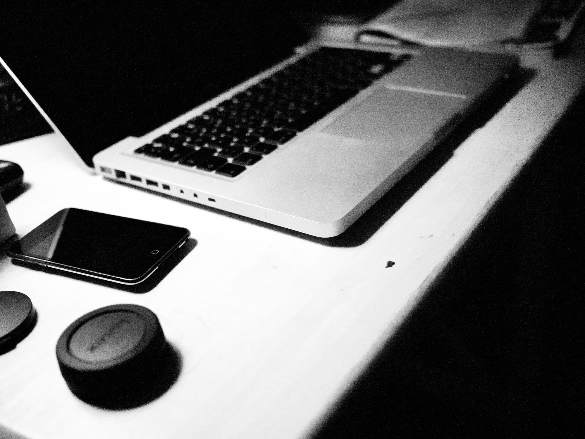 MacBook on desk