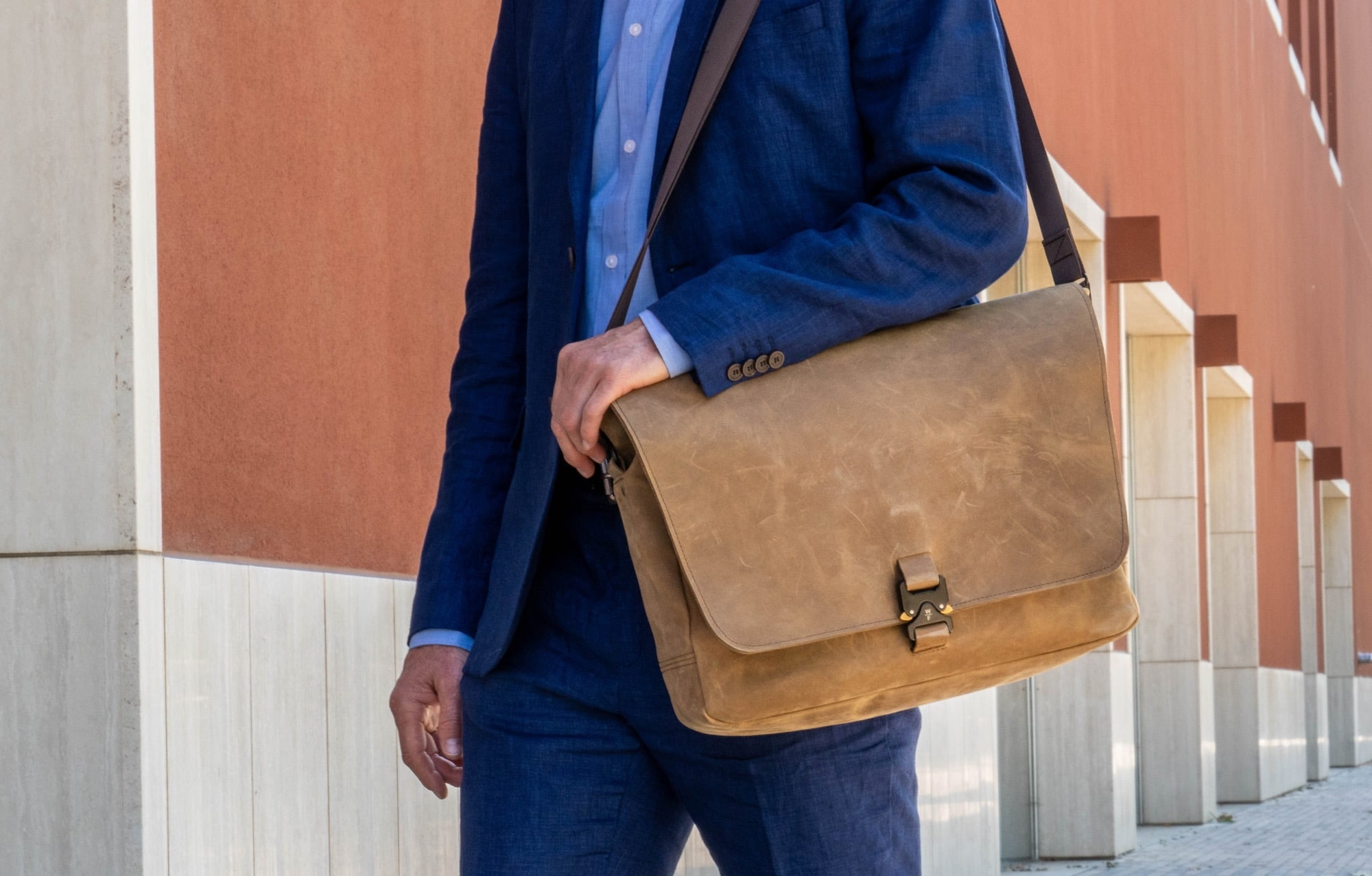 Briefcase messenger bag