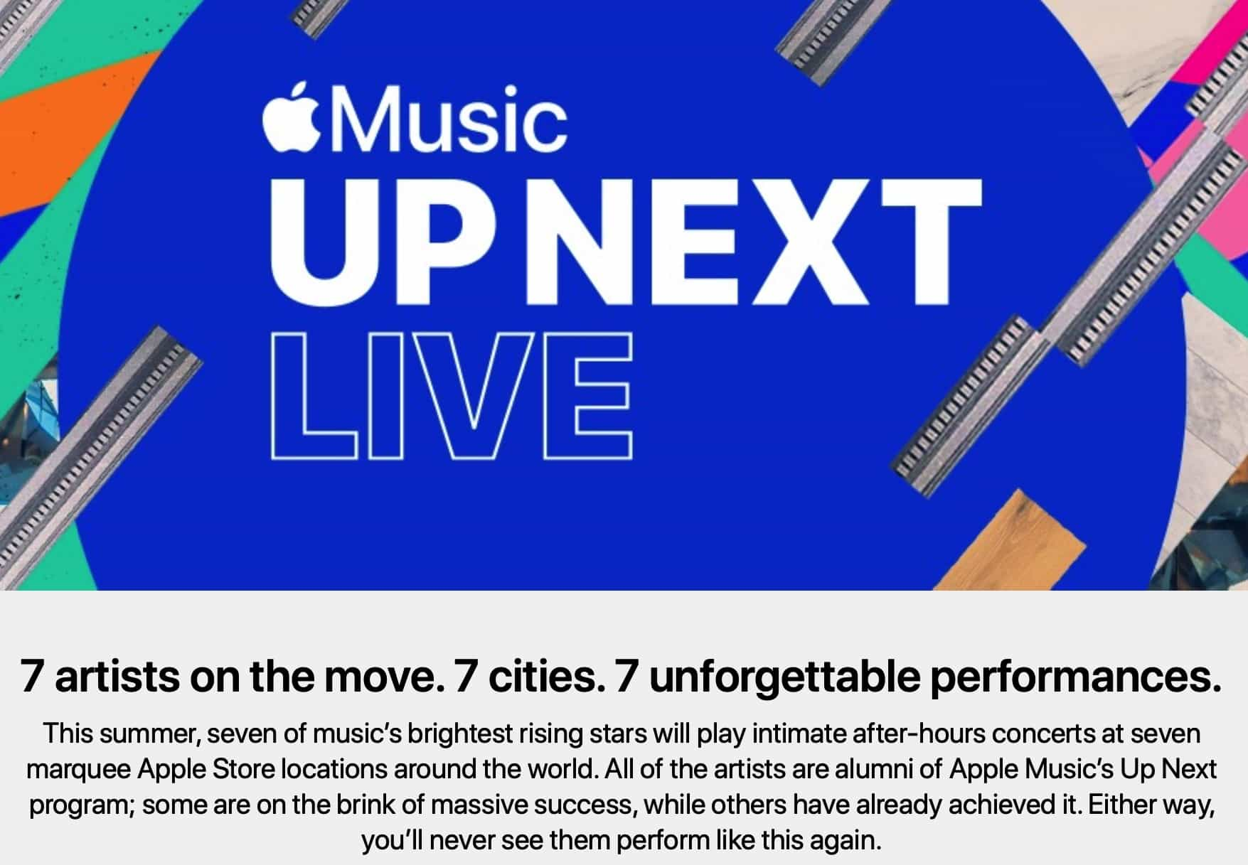 Apple's free Up Next concerts feature some pretty big names.