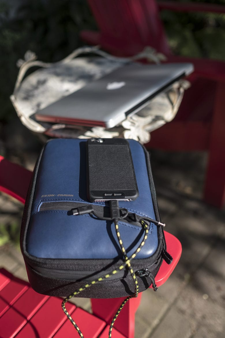charging iPhone on WaterField Designs Developer's Gear Case