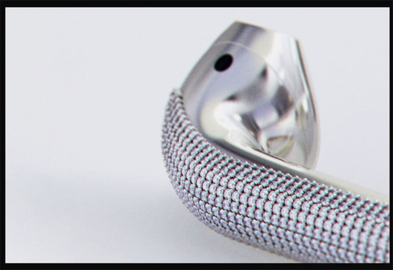 closeup of diamond AirPods