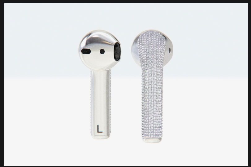 diamond AirPods by Ian Delucca