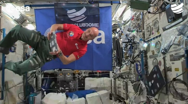 DJ astronaut from ISS