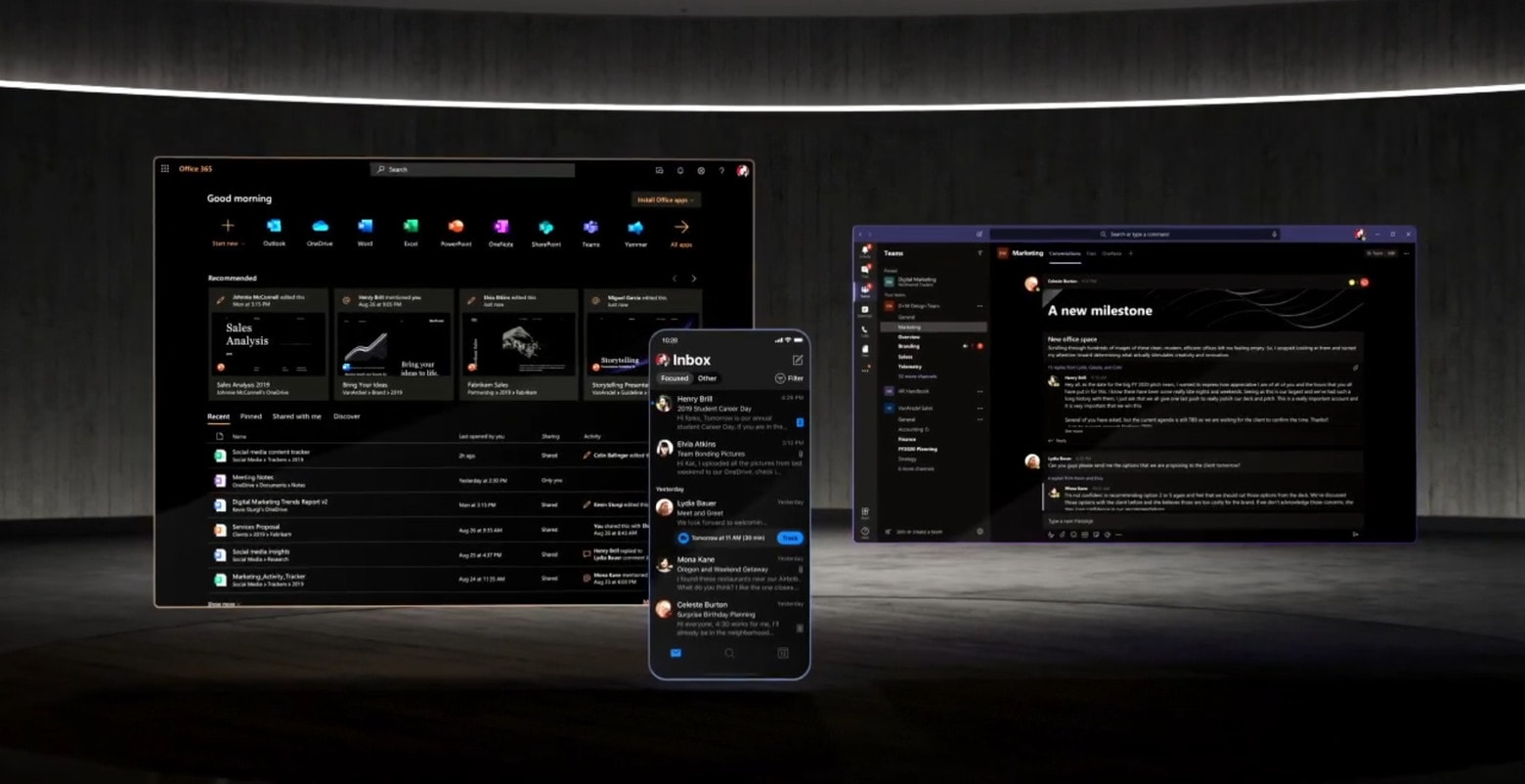 Dark Mode on Microsoft apps