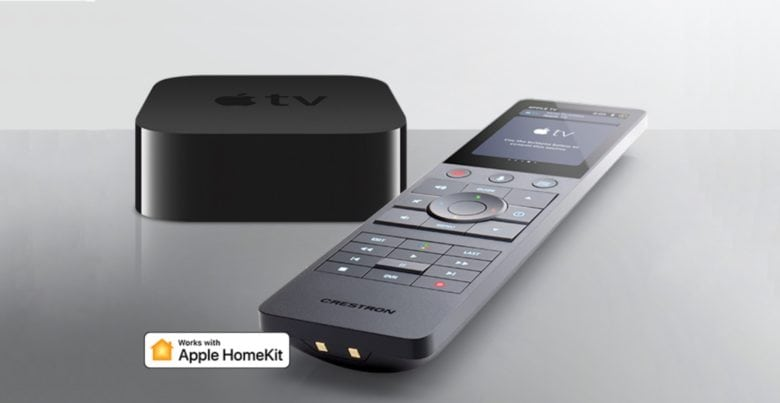 Crestron remote and Apple TV