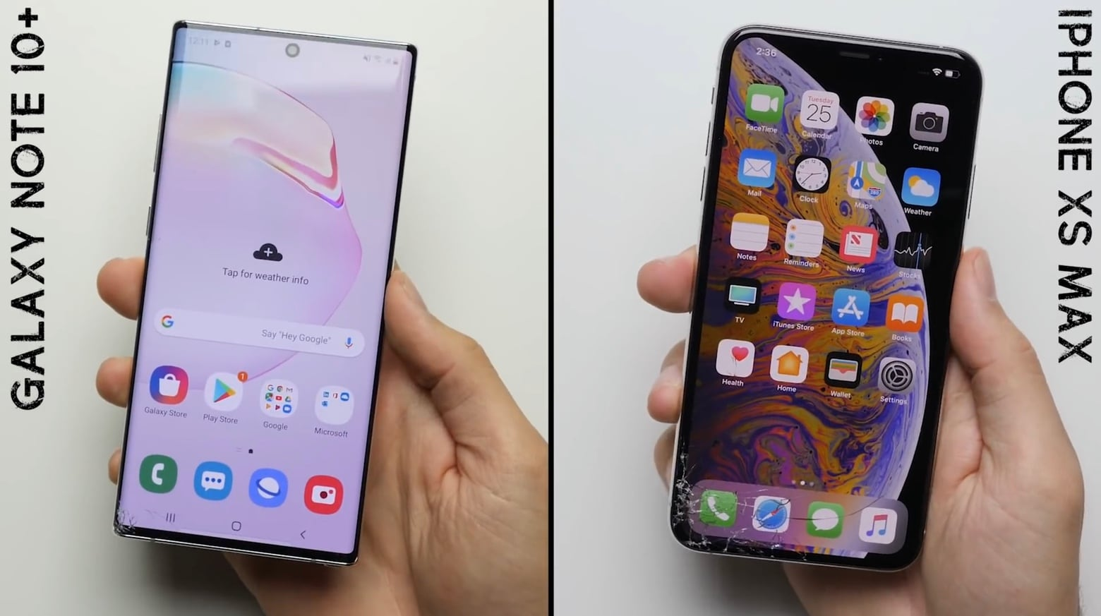 Galaxy Note 10+ vs. iPhone XS Max