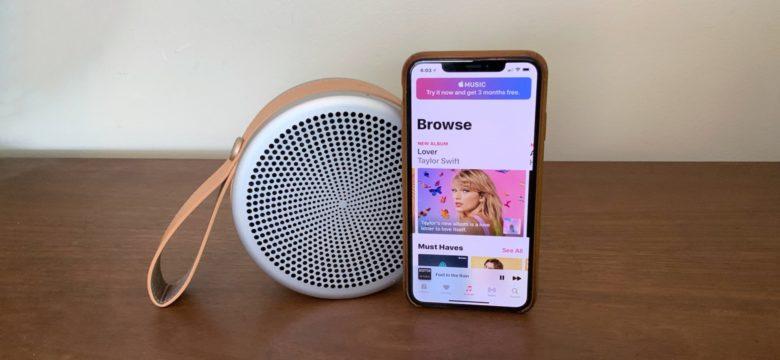 Tivoli Audio Andiamo with iPhone XS Max