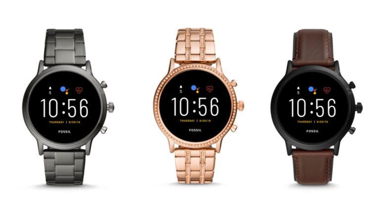 Fossil Gen 5 smart watches