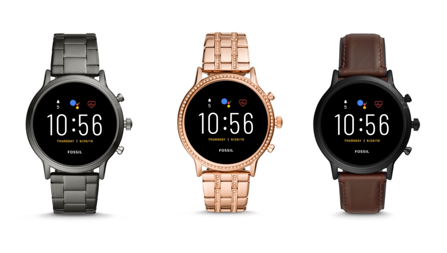 Fossil Gen 5 smart watches
