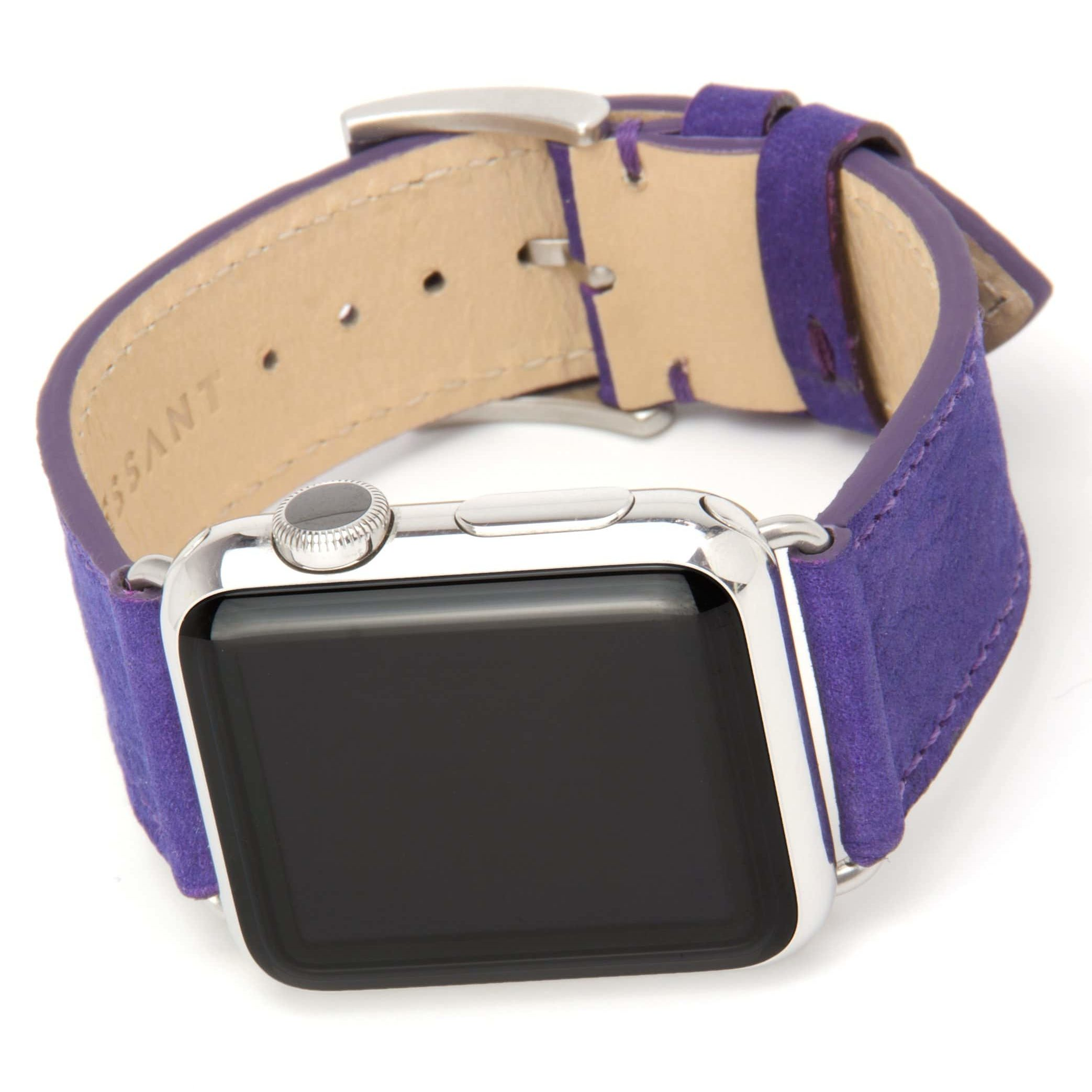 Clessant Nubuck Apple Watch bands come in purple (as well as other slightly more restrained colors).