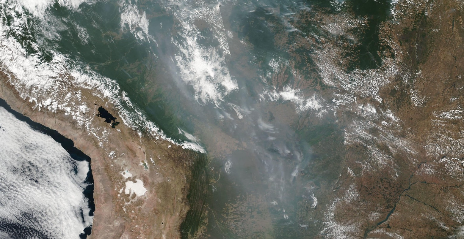 Smoke from fires in the Amazon basin