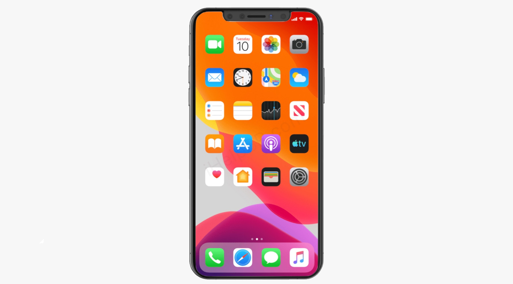 iOS 13 on an iPhone XS