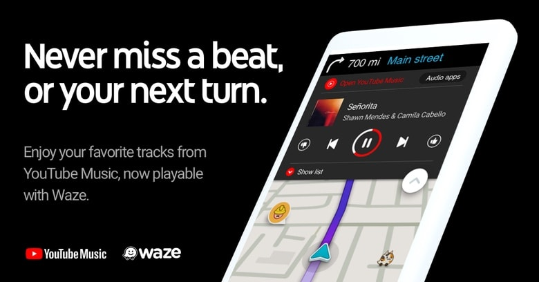 YouTube Music and Waze