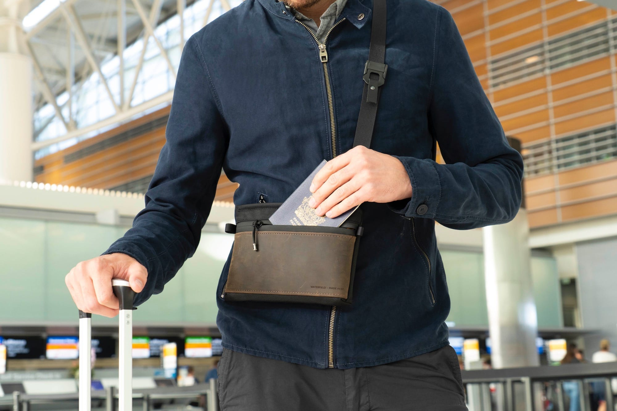 SF Bags Marqui Crossbody Pouch is good for travel.
