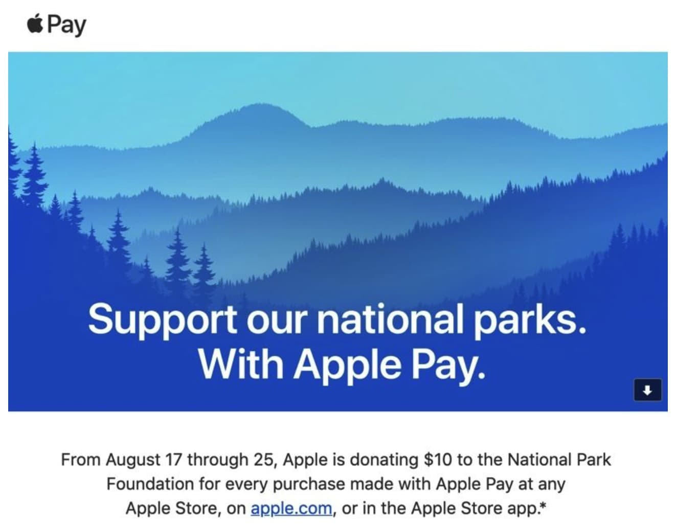 Apple will Make Donation to America's National Parks for Every Purchase