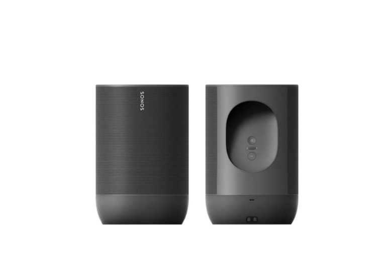 leaked photo showing front-back view of Sonos Move