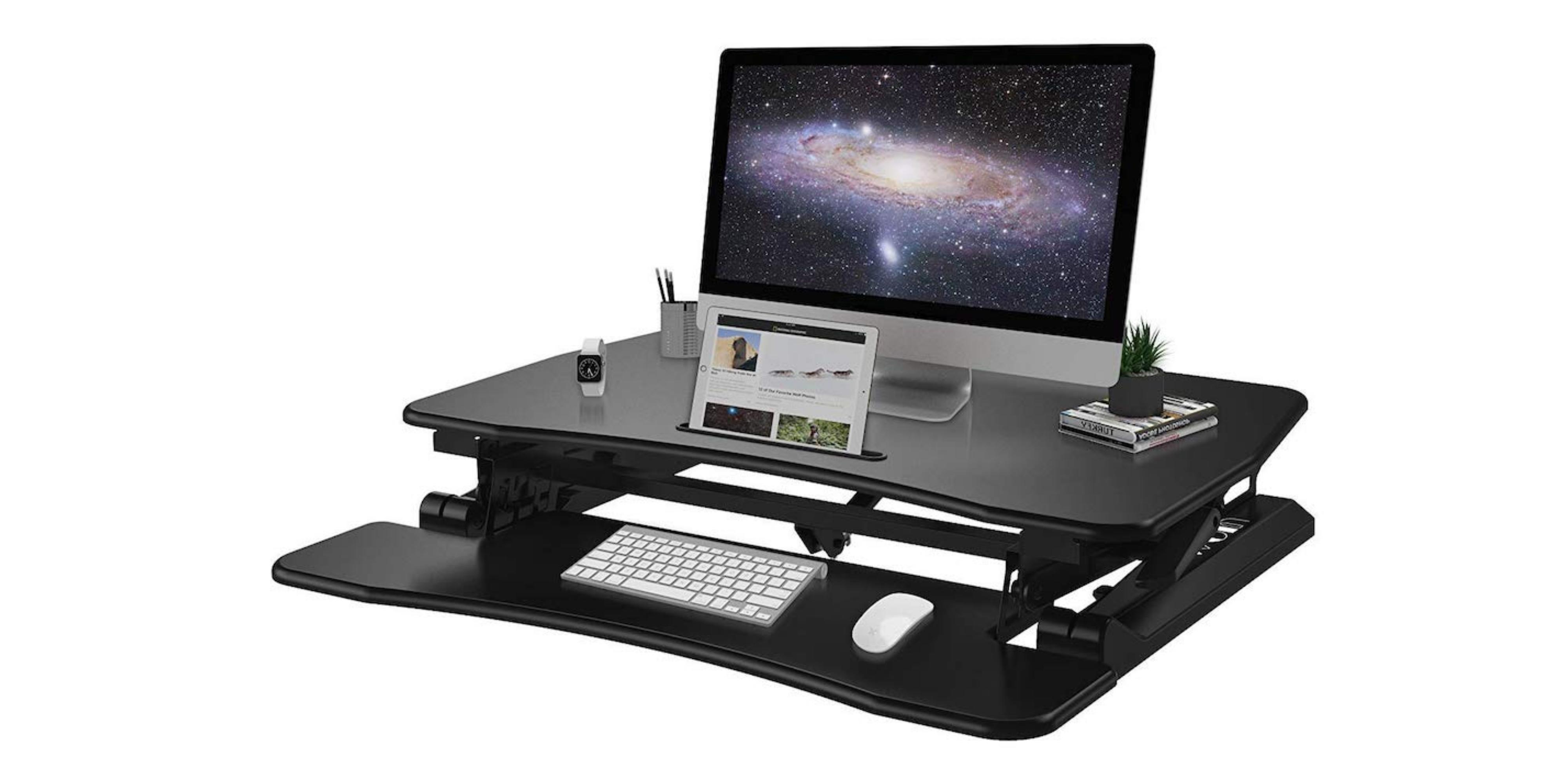 WOM Height Adjustable Tabletop Standing Desk Converter