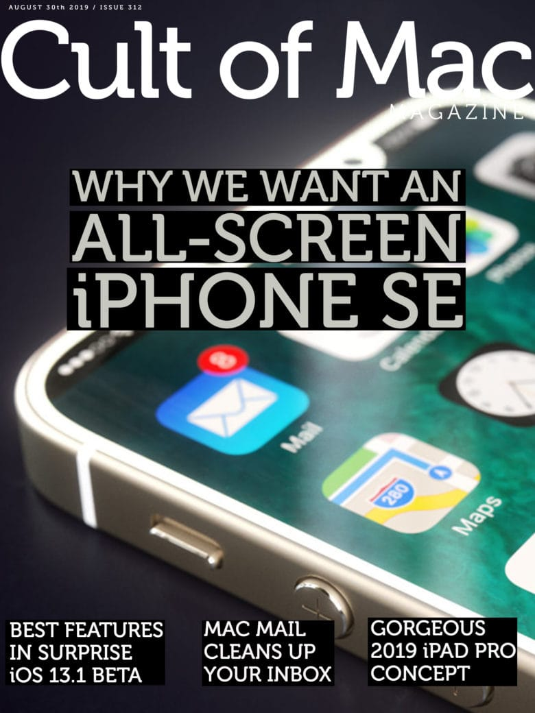 The case for an iPhone SE with an iPhone XS screen, in this week's issue of Cult of Mac Magazine 312.