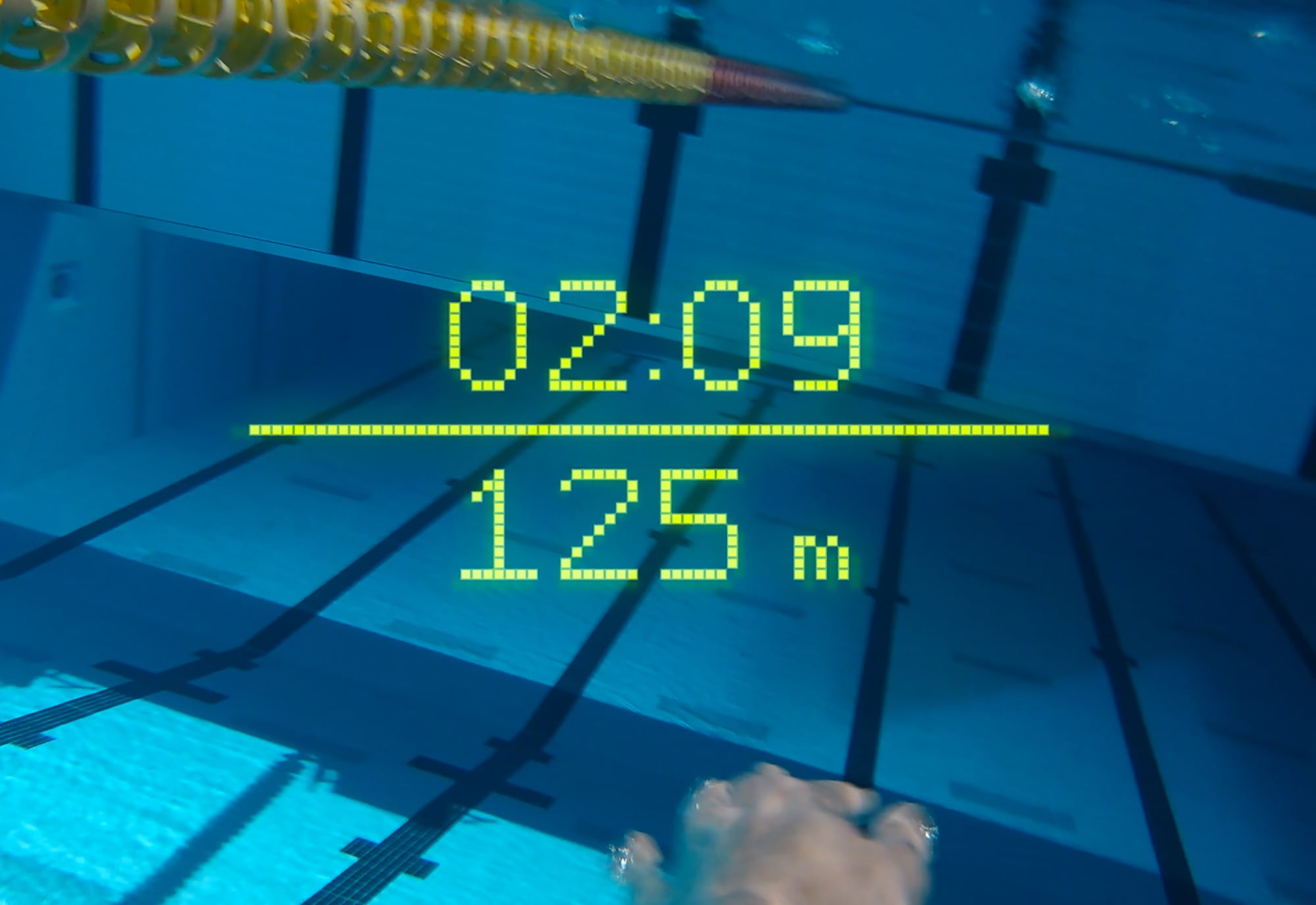 Form Swim Goggles show your time and distance stats on an AR display while you swim.