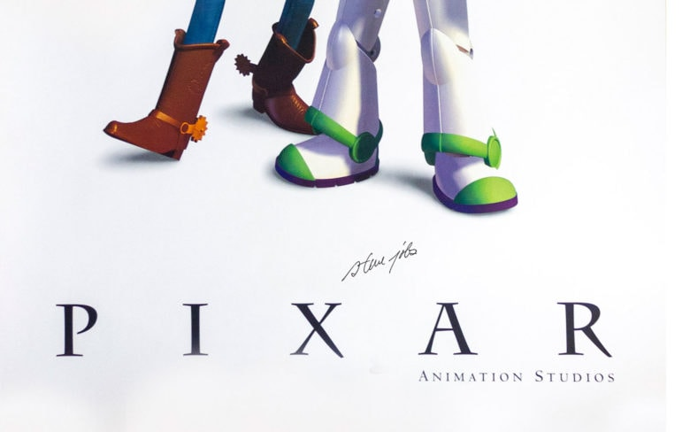 Pixar Toy Story poster signed by Steve Jobs