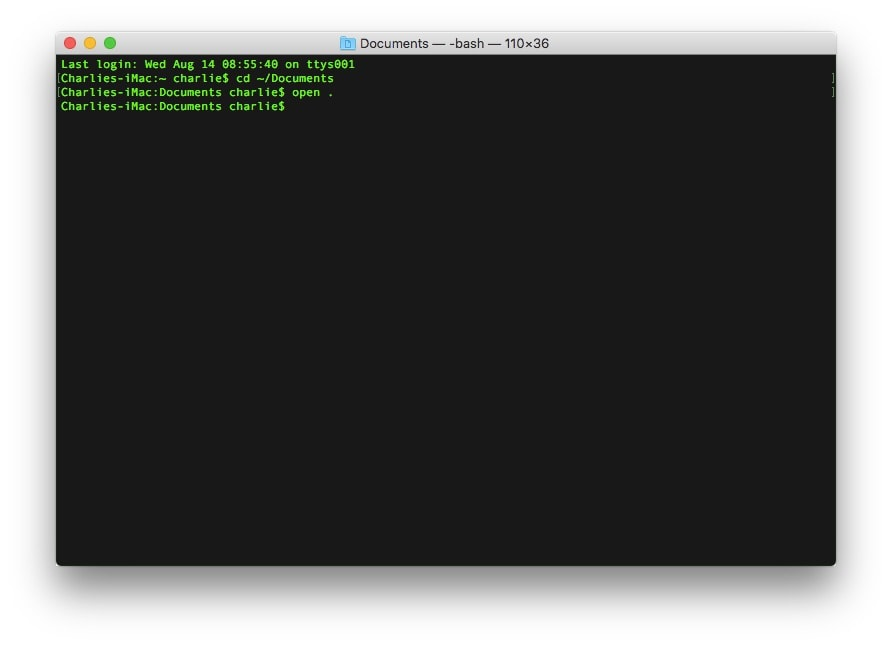 Terminal tips: The Finder and the Terminal are like the Joker and Batman.
