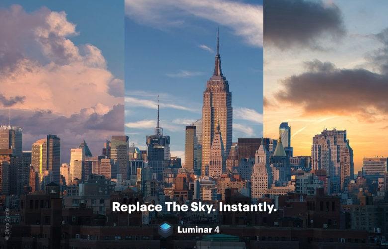 sky replacement tool in Luminar 4