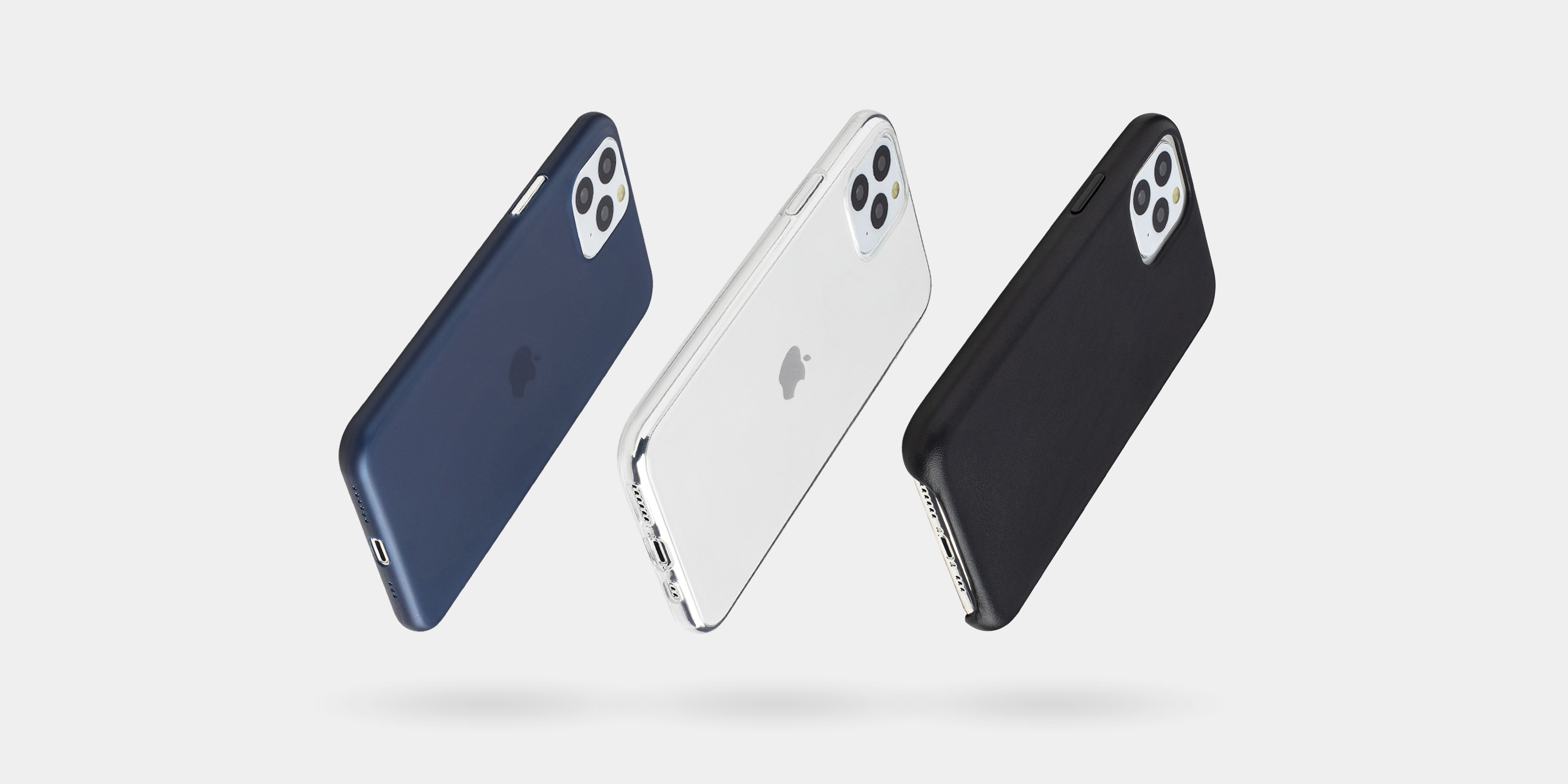 Totallee super-thin iPhone 11 cases come in three styles: matte, transparent and leather.