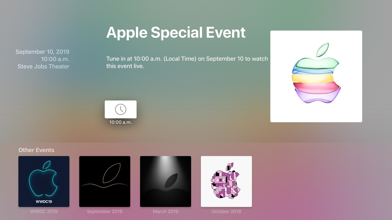 Apple Events app