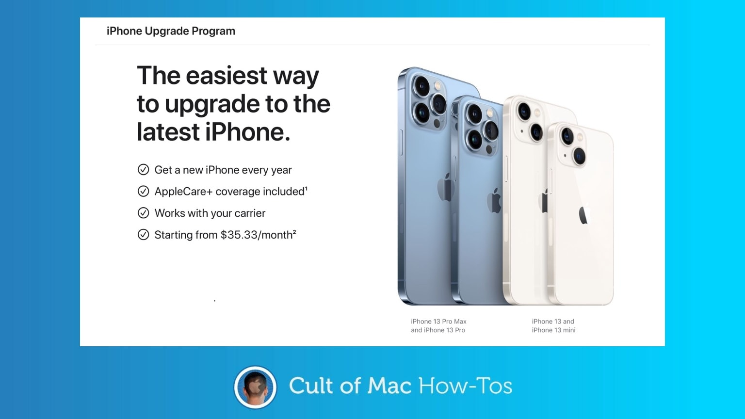 How to get ready to pre-order iPhone 13 with the iPhone Upgrade Program