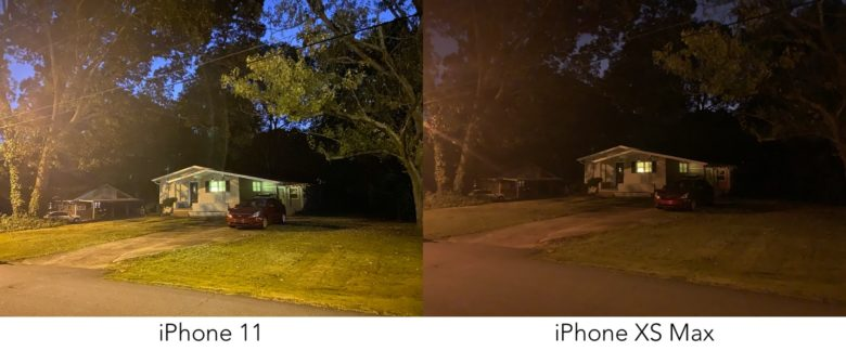 iPhone 11 Night Mode vs iPhone XS Max