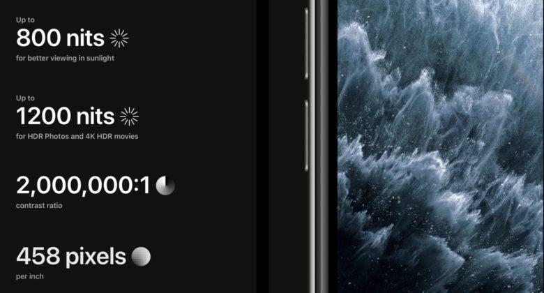 iPhone 11 Pro Max display specs