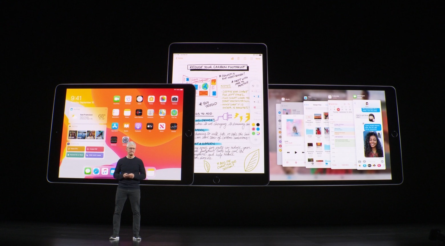 Apple CEO Tim Cook with iPad