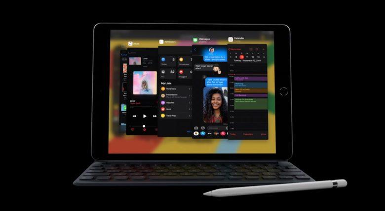 iPadOS 13 running on a iPad
