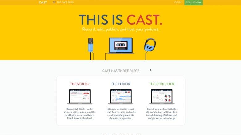 Cast website image