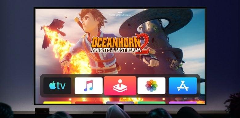 Oceanhorn 2 on Apple TV through Apple Arcade