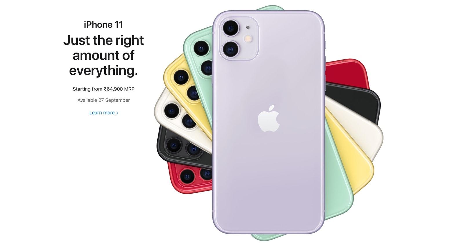 iPhone 11 in India