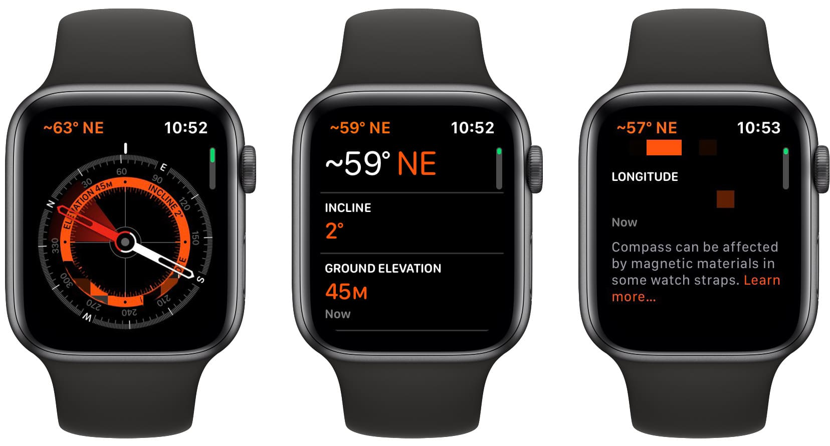 The new Watch OS 6 compass.