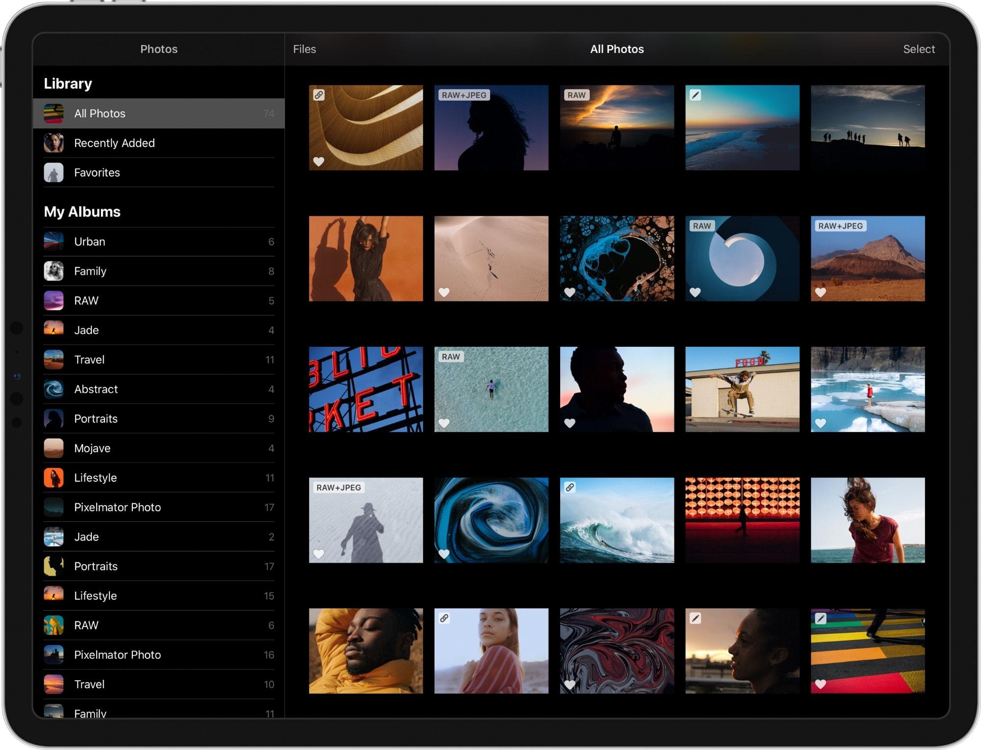 The new PixelMator Photo 1.1 beta.