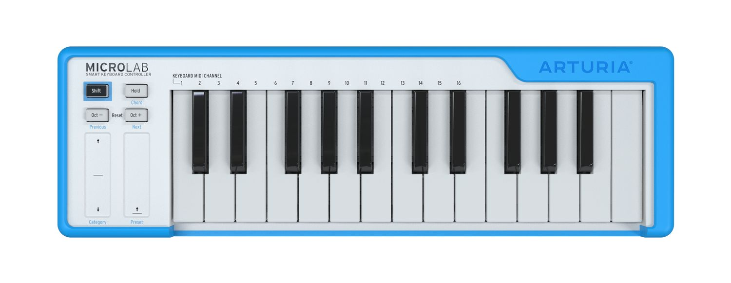 The Arturia MicroLab MIDI keyboard has just enough essential parts.