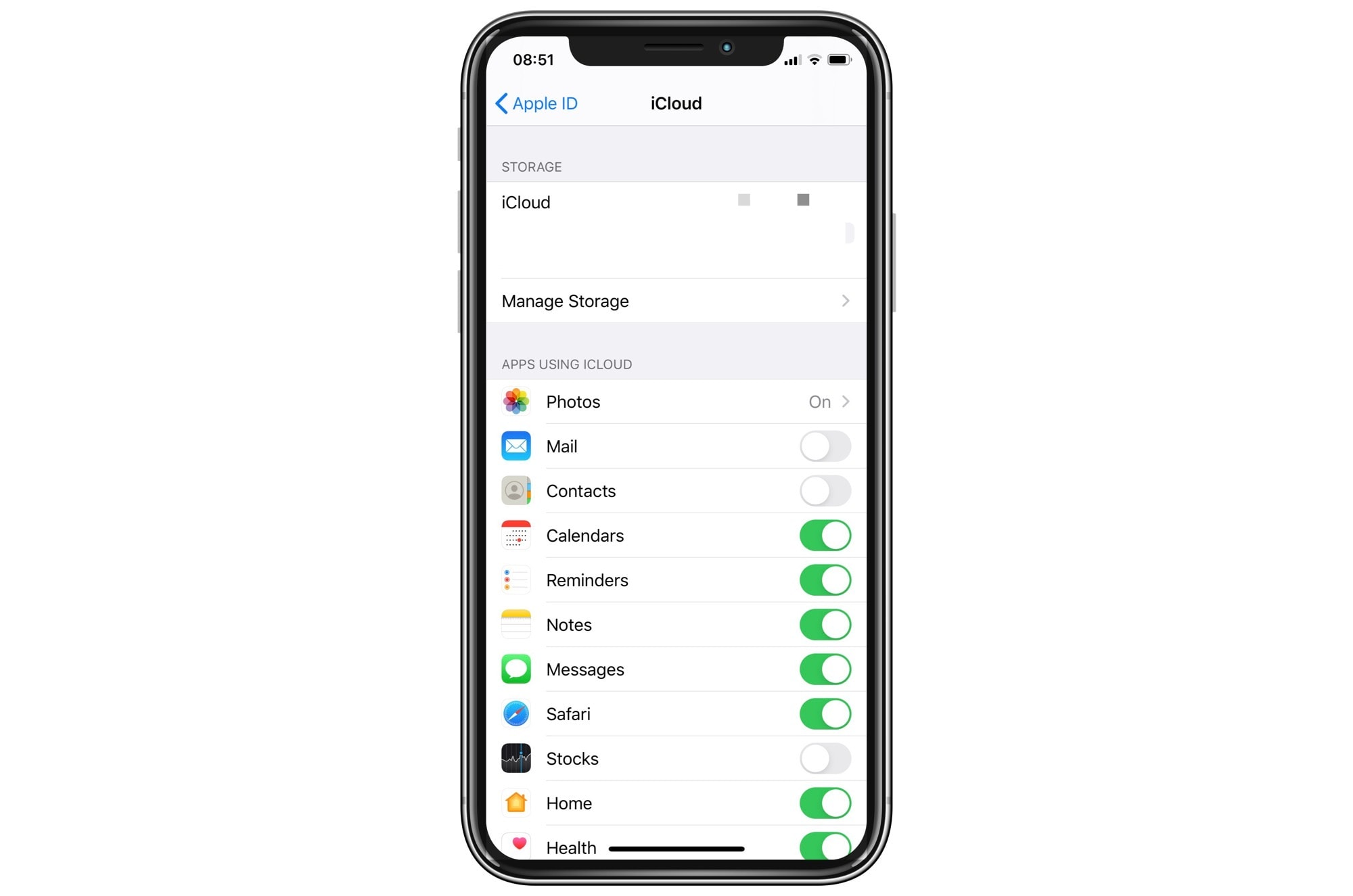 Find your iCloud backups in the Settings app.