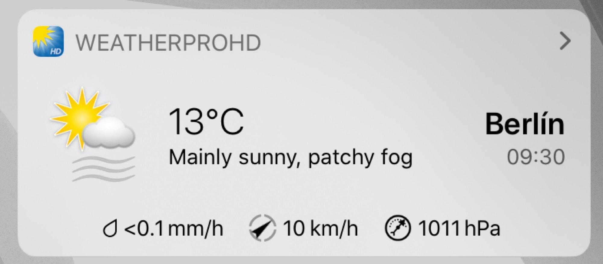 weather pro iPadOS widget